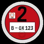 Umweltplakette rot