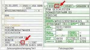 Plakette durch den Fahrzeugschein ermitteln