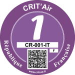 Crit'Air Vignette Klasse 1