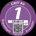 Crit'Air Vignette Klasse 1
