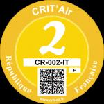 Crit'Air Vignette Klasse 2