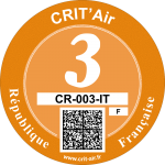 Crit'Air Vignette Klasse 3