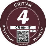 Crit'Air Vignette Klasse 4