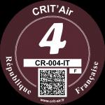 Crit'Air Vignette Klasse 4