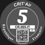 Crit'Air Vignette Klasse 5