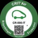 Crit'Air Vignette Klasse 0